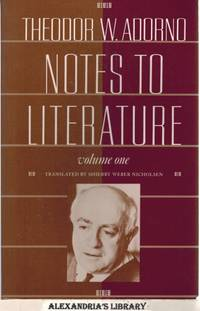 Notes to Literature, Volume One