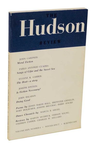 New York: The Hudson Review, 1976. First edition. Literary Journal. Contains an early appearance of ...
