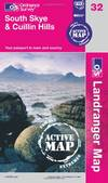 image of South Skye and Cuillin Hills (OS Landranger Map Active) (OS Landranger Active Map)