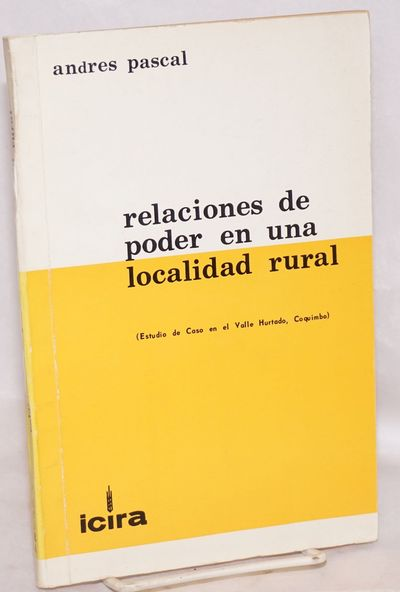 Santiago Chile: ICIRA, 1968. Paperback. 115p., illustrated with one line-map of the area plus tables...
