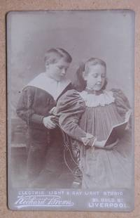 Cabinet Photograph: A Charming Studio Portrait of Young Boy & Girl, Probably Brother & Sister.