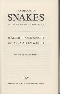 Handbook of Snakes of the United States and Canada, Volume 3, Bibliography