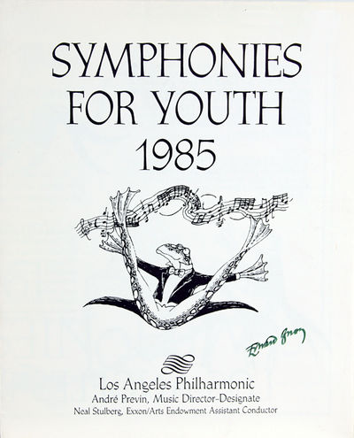 Los Angeles: Los Angeles Philharmonic, 1985. Gorey, Edward. Broadside folded in four, printed on bot...