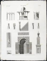 Le Kaire. Details d'Architecture de la Mosquee de Soultan Hasan. by CAIRO - ARCHITECTURE) Protain (del). Moisy (sculpt) - No date. Ca. 1820. - from oldimprints.com and Biblio.com