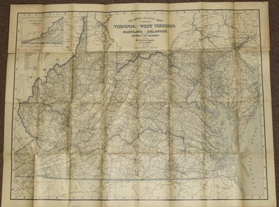 Baltimore: The Bullard Company, 1912. Folding map of the Middle Atlantic states, about 34 x 44