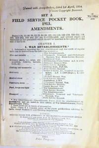 SET 2. FIELD SERVICE POCKET BOOK, 1913. AMENDMENTS.