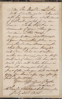 WYOMING GOLD MINING MASSACRE LETTER.  In years to come . . . recall to your mind this place and the Indian Massacres, the white men you saw brought into town kild and scalped as they was mining, not one half a mile out of Town.