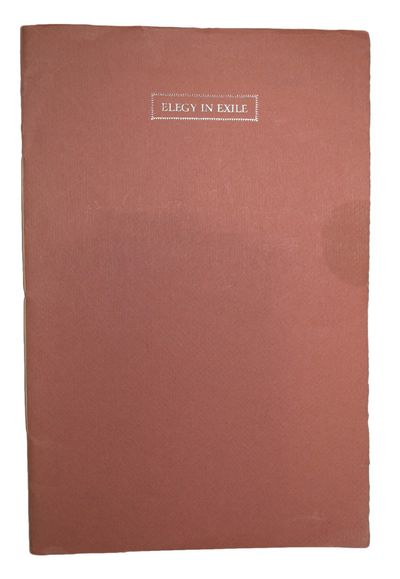 The Pears Press, 1971. First edition, one of only 200 copies. Signed by the poet Adonis. Very good i...
