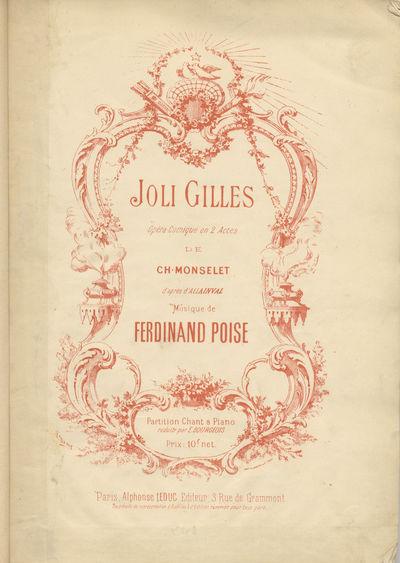 Paris: Alphonse Leduc , 1884. Large octavo. Full black cloth stiff wrappers with titling gilt to upp...