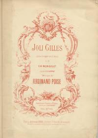 Joli Gilles Opéra-Comique en 2 Actes de Ch. Monselet d'après d'Allainval ... Partition Chant & Piano réduite par E. Bourgeois Prix: 10 f. net. [Piano-vocal score]