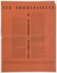 Les Surréalistes à Garry Davis [exemplaire sur papier pourpre]
