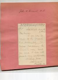 """Autograph letter signed """"J. H. Vincent"""" To """"Dear Friend."""""""