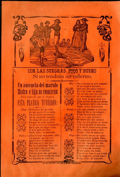 Mexico: A. V. Arroyo, 1910. Unbound. Very Good Condition. Broadside with illustration of children pl...