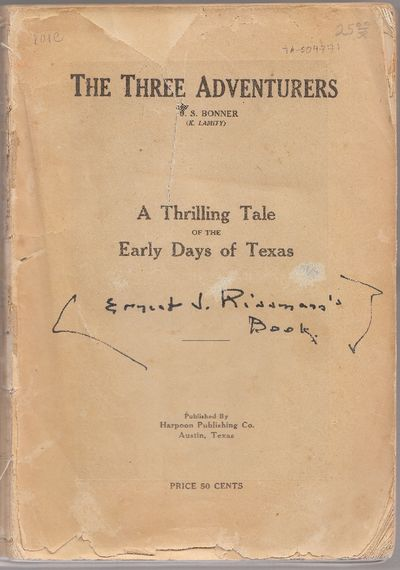 Austin, TX: Harpoon Publishing Co.. Poor with no dust jacket. 1911. Disbound. Pages 9-22 missing, pa...