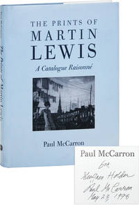 image of The Prints of Martin Lewis: A Catalogue Raisonné [Inscribed to Geoffrey Holder]