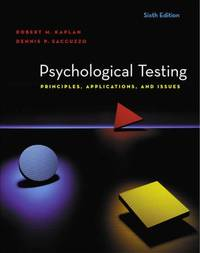 image of Psychological Testing: Principles, Applications, and Issues
