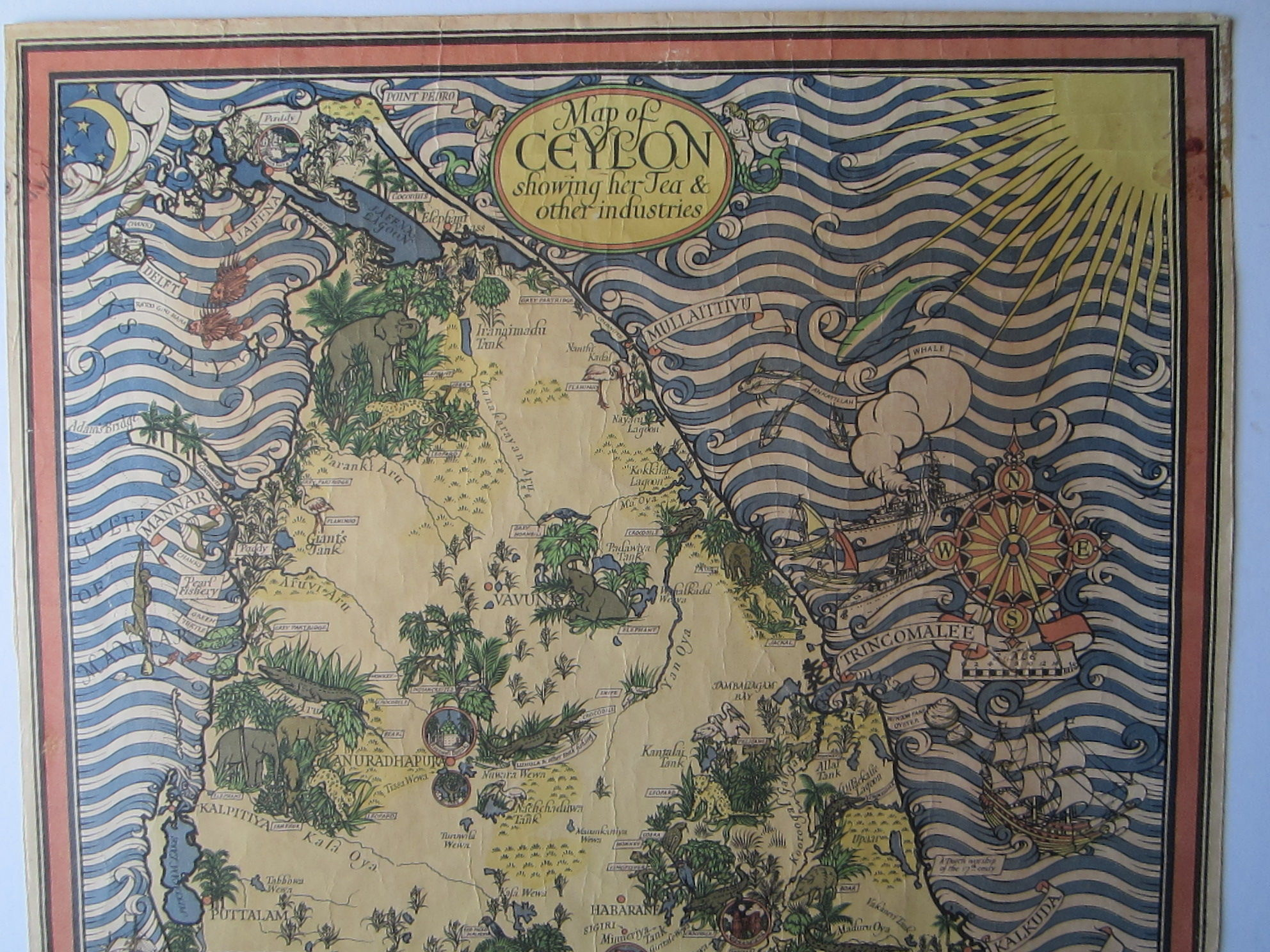 Map of Ceylon showing her Tea & other industries. (photo 3)