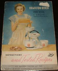 image of Hamilton Beach Food Mixer Instructins and Tested Recipes