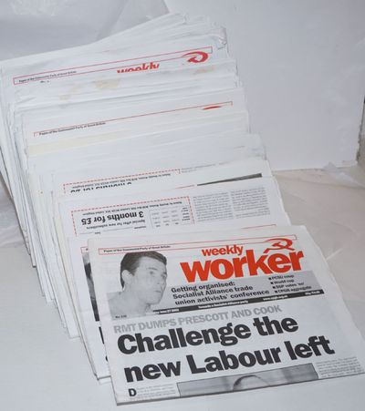 London: Communist Party of Great Britain, 2007. 68 issues of this weekly newspaper, incomplete run b...
