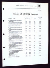 History of Kodak Cameras, AA-13: Kodak Customer Service Pamphlet
