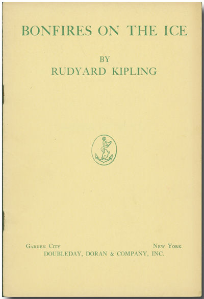 Garden City: Doubleday, 1933. Cream wrappers, printed in green. About fine. First edition of this po...