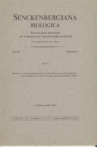 Die Herpetologische Sektion Des Natur-Museums Und Forschungs-Institutes Senckenberg in Frankfurt A. M. Nebst Einem Verzeichnis Ihrer Typen