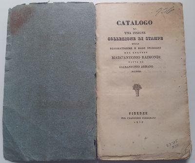 Firenze: Per Francesco Cardinali, 1830. 12mo. 165 x 95 mm. (6 ½ x 3 ½ inches). viii, 167 pp. Later...