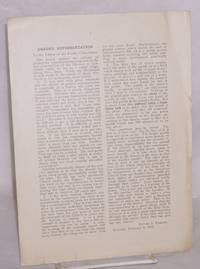image of Graded Representation: To the Editor of the Pacific Churchman, February 8, 1910
