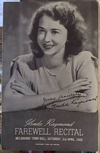 image of Glenda Raymond; Farewell Recital, Melbourne Town Hall, Saturday, 3rd of April 1948