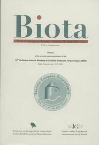 image of Abstracts of the oral and poster presentation of the 11th Ordinary General Meeting of Societas Europaea Herpetologica (SEH) Zalec, Slovenia, July 13-17, 2001
