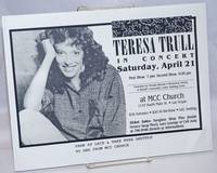 image of Teresa Trull in Concert [handbill] Saturday, April 21 at MCC Church. S. Main, Las Vegas