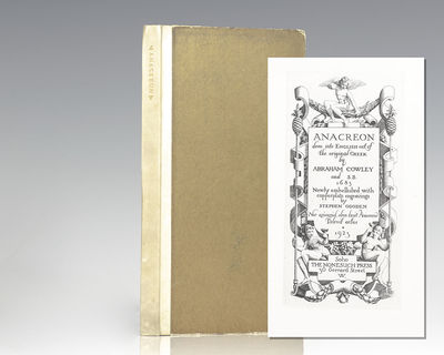 Soho: Nonesuch Press, 1923. First Nonesuch Press limited edition of the Odes of Anacreon. Octavo, bo...