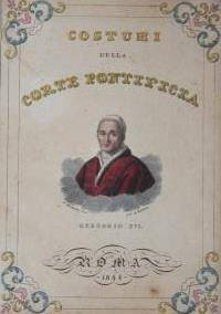 Roma, 1846. First Edition. Paper Pastedown on folder. Near Fine. Leporello with 30 hand-colored imag...
