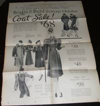 October 1938 Illustrated Coat Sale Circular from Boggs & Buhl of  Pittsburgh Pa. a Very Scarce