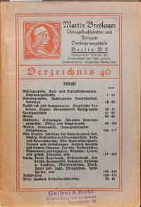 Catalogue 40/(1928): Verzeichnis 40.