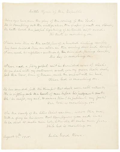 Autograph manuscript signed, the...