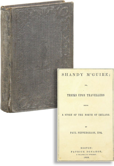 Boston: Patrick Donahoe, 1853. Reprint. 12mo (18.5cm.); publisher's grey blind-embossed cloth, gilt-...