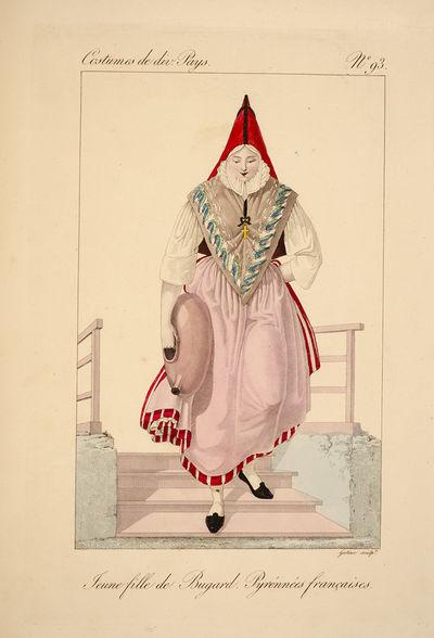 Paris: Chez l'éditeur, 1827. The Costumes of the Women of Hamburg, Tyrol, Holland, Switzerland, Fra...