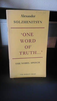 image of One Word of Truth : The Nobel Speech on Literature 1970