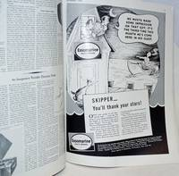 Cartooned magazine advertisement for Essomarine Oils & Greases: We musta made some impression on that guy [in] Yachting, Vol LXIV No 3 September 1938