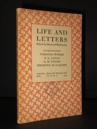 Life and Letters Volume III, No. 16 (Sept. 1929) including Dr. Burney's Evening Party