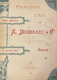 image of Phototypie d'Art. Cahier-Spécimen. 1er Janvier 1900