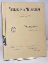 image of Verreries de Meisenthal (Moselle), Societe par actions, Fondee en 1711. Service de table et a liqueurs / Gobeleterie / Articles divers