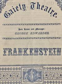 [WOMEN] [THEATER PLAYBILL] Frankenstein: A Melodramatic Burlesque in 3 Acts, London (1887)