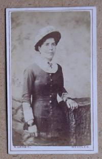 Carte De Visite Photograph. Portrait of a Young Woman & Hat.