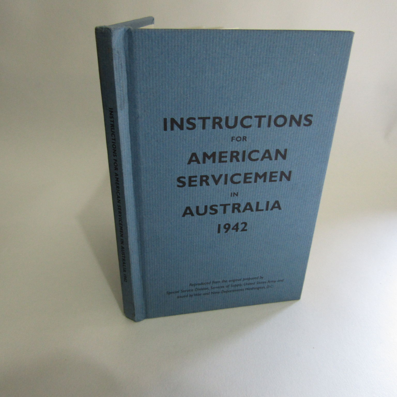 instructions for american servicemen in australia 1942