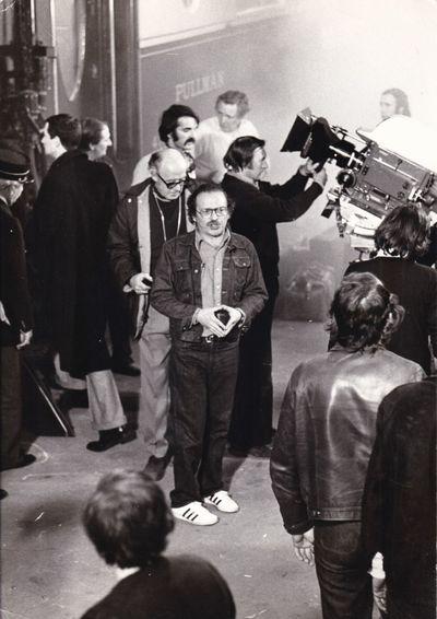 N.p.: EMI Film Distributors, 1974. Vintage oversize borderless double weight photograph of Sidney Lu...