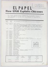 image of El Papel. How UNM exploits Chicanos