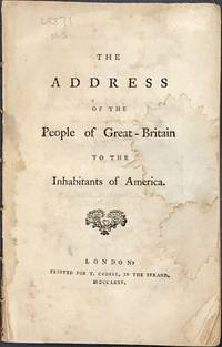 THE ADDRESS OF THE PEOPLE OF GREAT BRITAIN TO THE INHABITANTS OF AMERICA