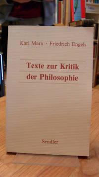 Texte zur Kritik der Philosophie,